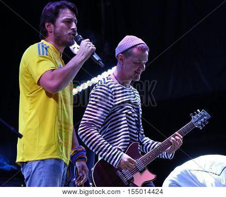 Rock-concert At Troyitska Square