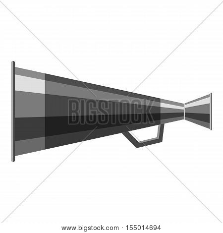 Mouthpiece icon. Gray monochrome illustration of mouthpiece vector icon for web