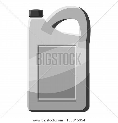 Engine oil icon. Gray monochrome illustration of engine oil vector icon for web