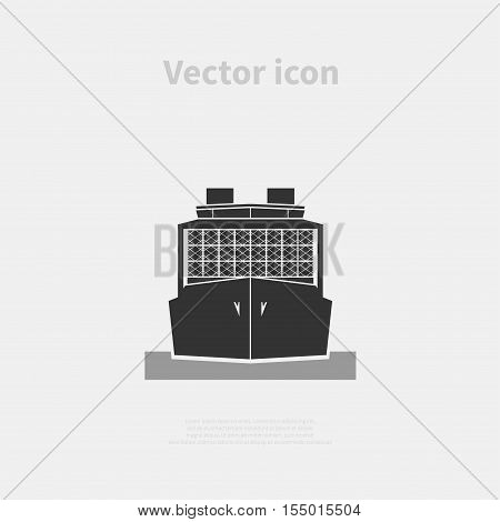 Container ship icon isolated on background. Vector illustration