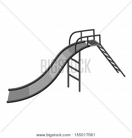Childrens slide icon. Gray monochrome illustration of childrens slide vector icon for web