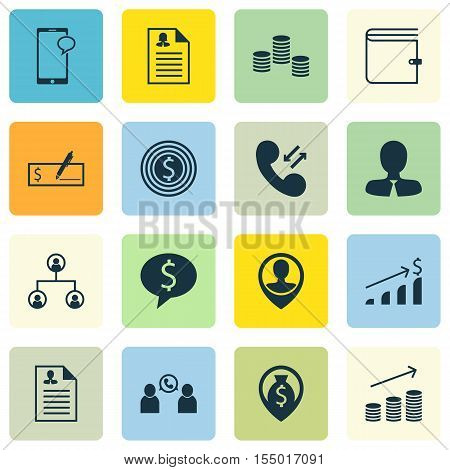 Set Of Hr Icons On Cellular Data, Female Application And Phone Conference Topics. Editable Vector Il