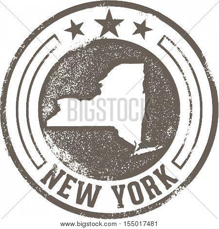 Vintage New York State Stamp