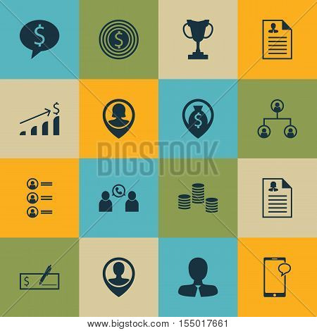 Set Of Human Resources Icons On Manager, Curriculum Vitae And Job Applicants Topics. Editable Vector