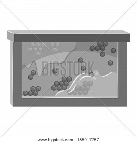 Bee honeycombs icon. Gray monochrome illustration of bee honeycombs vector icon for web