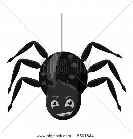 Spider icon. Gray monochrome illustration of spider vector icon for web