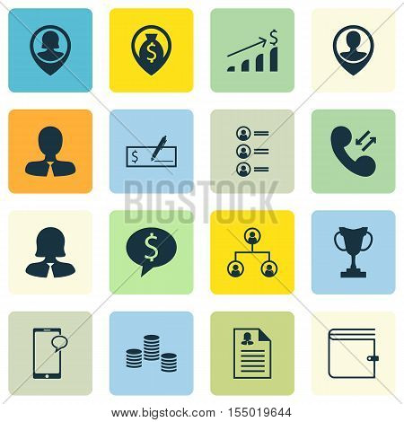 Set Of Hr Icons On Employee Location, Business Woman And Job Applicants Topics. Editable Vector Illu