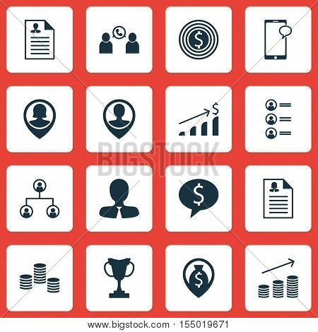 Set Of Management Icons On Money Navigation, Money And Manager Topics. Editable Vector Illustration.
