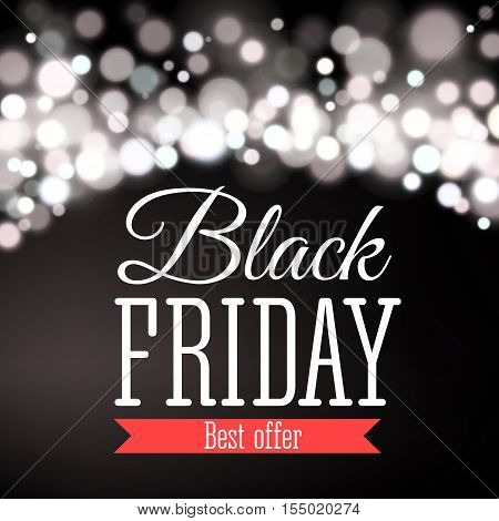 Vector illustration of Black Friday sale inscription design template. Black Friday banner.