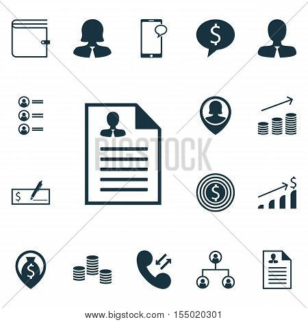 Set Of Hr Icons On Messaging, Job Applicants And Business Goal Topics. Editable Vector Illustration.