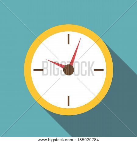 Wall clock icon. Flat illustration of wall clock vector icon for web
