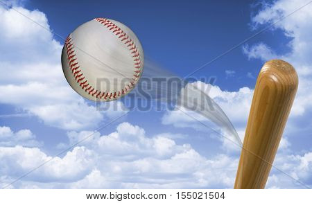 Home run baseball fast hit to the heavens with room for your type.