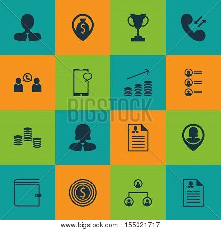 Set Of Management Icons On Money Navigation, Coins Growth And Manager Topics. Editable Vector Illust