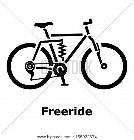 Freeride bike icon. Simple illustration of freeride bike vector icon for web