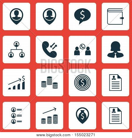 Set Of Human Resources Icons On Phone Conference, Business Goal And Tree Structure Topics. Editable