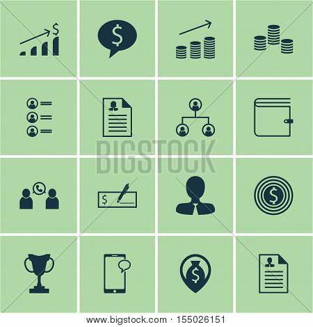 Set Of Human Resources Icons On Phone Conference, Tree Structure And Job Applicants Topics. Editable