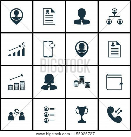 Set Of Management Icons On Tournament, Female Application And Wallet Topics. Editable Vector Illustr