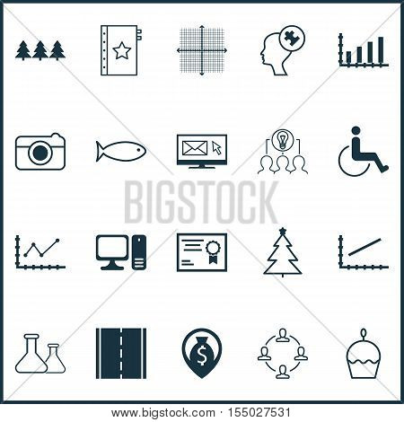 Set Of 20 Universal Editable Icons. Can Be Used For Web, Mobile And App Design. Includes Icons Such