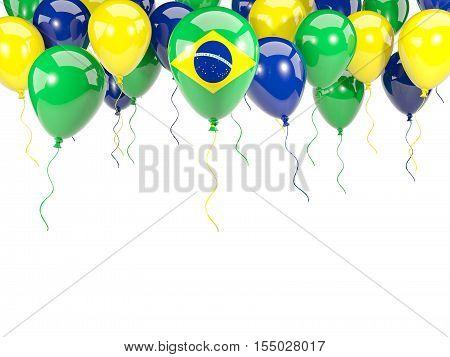 Flag Of Brazil On Balloons