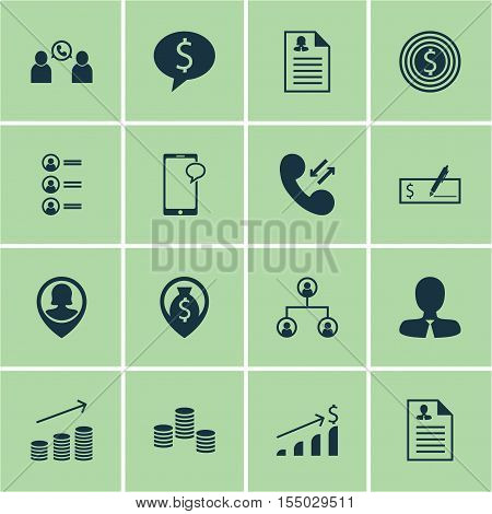 Set Of Human Resources Icons On Successful Investment, Money Navigation And Bank Payment Topics. Edi