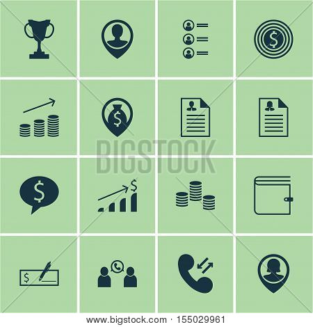 Set Of Hr Icons On Cellular Data, Bank Payment And Employee Location Topics. Editable Vector Illustr