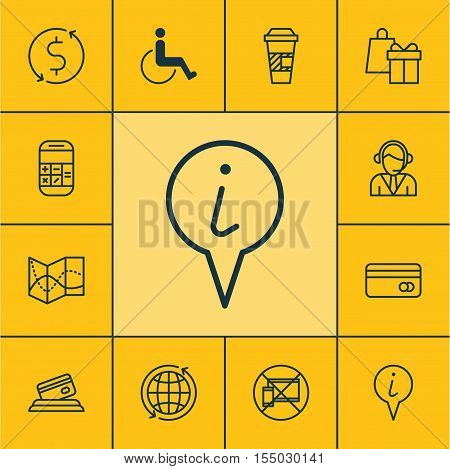 Set Of Traveling Icons On Shopping, Road Map And Calculation Topics. Editable Vector Illustration. I