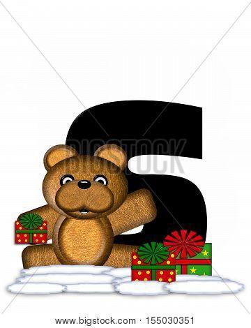 Alphabet Teddy Christmas S