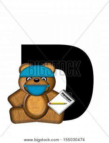 Alphabet Teddy Dental Checkup D