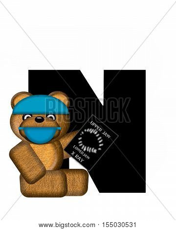 Alphabet Teddy Dental Checkup N