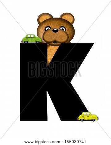 Alphabet Teddy Driving Cars K