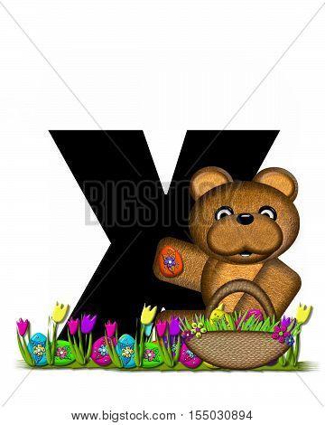 Alphabet Teddy Easter Egg Hunt X