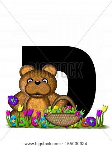 Alphabet Teddy Easter Egg Hunt D
