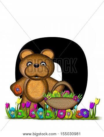 Alphabet Teddy Easter Egg Hunt O