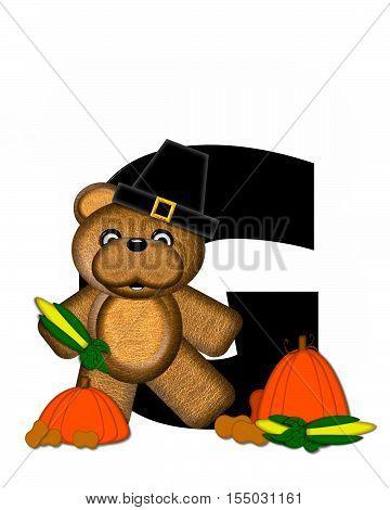 Alphabet Teddy Thanksgiving G