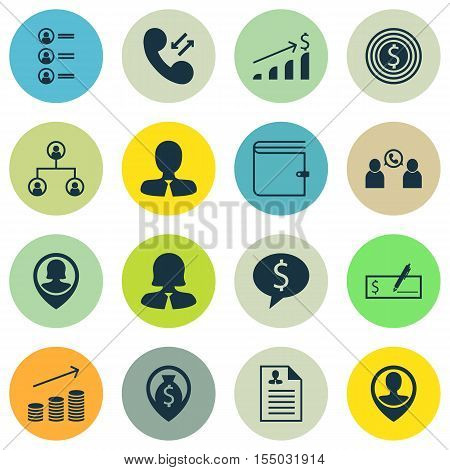 Set Of Hr Icons On Money Navigation, Business Deal And Manager Topics. Editable Vector Illustration.