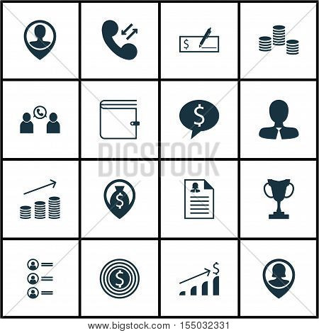 Set Of Hr Icons On Successful Investment, Business Deal And Money Topics. Editable Vector Illustrati