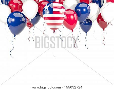 Flag Of Liberia On Balloons