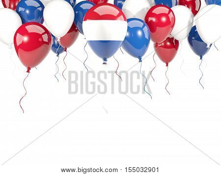 Flag Of Netherlands On Balloons