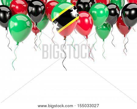 Flag Of Saint Kitts And Nevis On Balloons