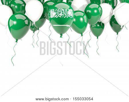 Flag Of Saudi Arabia On Balloons