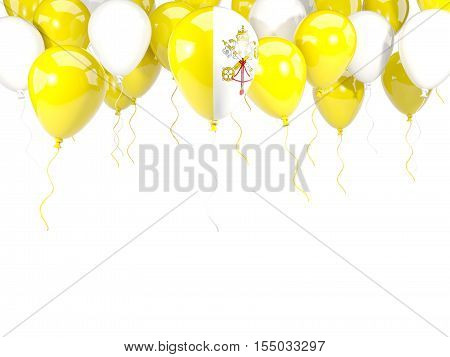 Flag Of Vatican City On Balloons