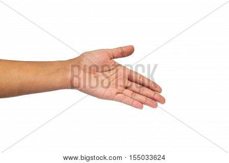 Woman Hand With Isolated Background.