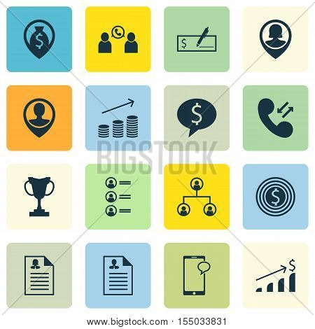 Set Of Human Resources Icons On Tree Structure, Business Deal And Female Application Topics. Editabl