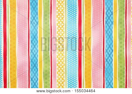 Close up of seamless colorful background of stripe pattern