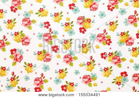 Seamless colorful background of rose flower pattern