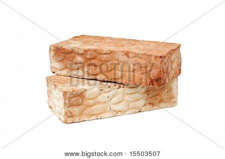 bricks isolated on a white background
