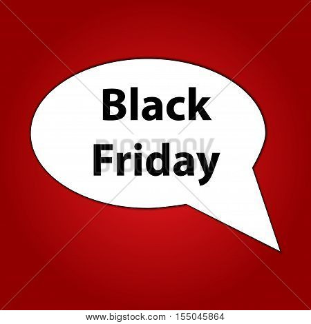 Black Friday speech bubble on a bright red background