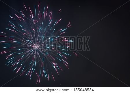 Multicolored Fireworks During The Celebrations At Night