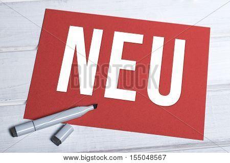 Neu Red Board With German Writing