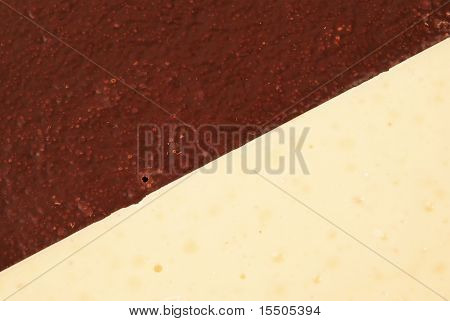 Background From A White And Dark Chocolate